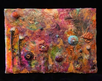 My Secret Garden - Mixed Media Encaustic Inspired Painting