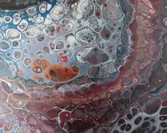"Intergalactic: 12 x 12 x 1.5"" acrylic on canvas"