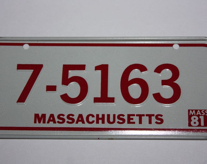 1981 Massachusetts Wheaties Post Cereal Premium Bike Mini Metal License Plate