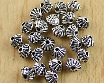 60pcs tibetan silver crafted round spacer beads h0071