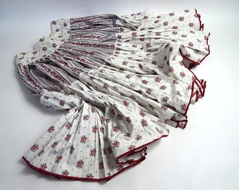 Vintage French Skirt 'Les Olivades'  Provencal  Print