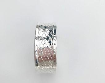 Braided Bangle Bracelet 925 silver plate