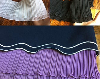 """5 meter 12cm 4.72"""" wide black 2 layers ruffled pleated chiffon tapes lace trim ribbon S5Q149HB17062902  free ship"""