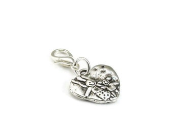 SALE Mother and Daughter Zipper Pull Purse Charm Heart Clip On Charms