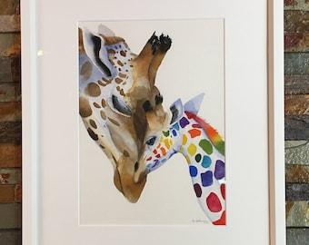 Rainbow giraffe #1