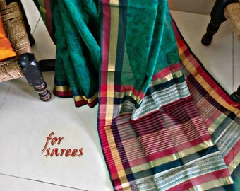 A cotton silk Maheshwari Saree