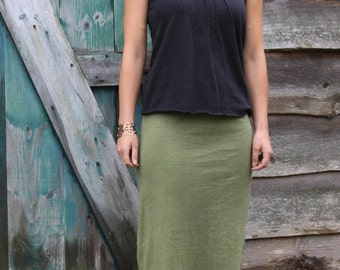 Straight Skirt-Maxi Length-Organic Hemp and Cotton