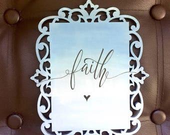 wooden faith original artwork