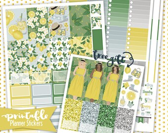 Happy Planner | Lemon Drop PRINTABLE planner stickers | Pdf, Jpg, Png | Instant Download