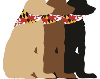 """3 Buds Dog 5"""" Indoor/Outdoor Magnet and Decal"""