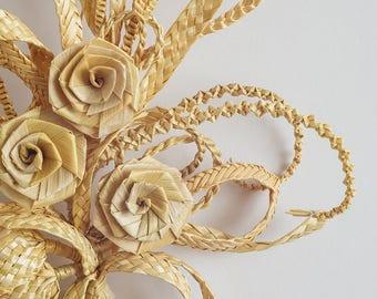 Straw wall decoration Wall decor Weaving branch Straw ornaments Wall decoration