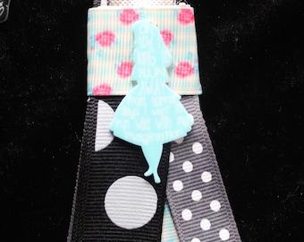 Alice In Wonderland Ribbon Keychain