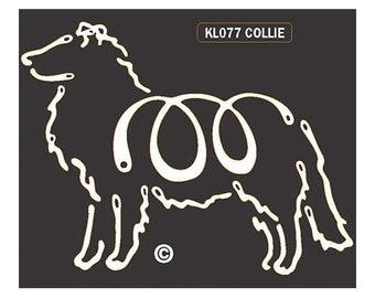 Collie K Lines Dog Car Window Decal Sticker