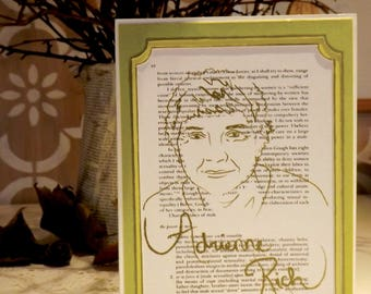 Adrienne Rich -  Feminist Icon Greeting Card