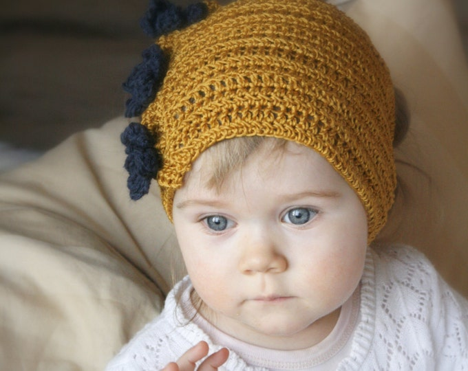 CROCHET PATTERN cowl headband Helena with flowers (baby, child, adult sizes)