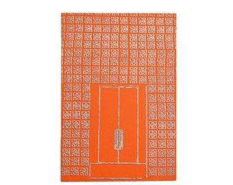 Palm Springs Door - Orange/Silver