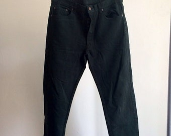 The Vintage Forest Green Levi 501 Jeans