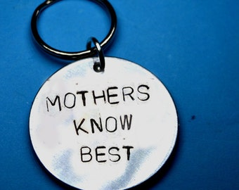 Mothers day gif, Mothers know best, Mom gift, Personalised gift for mom, Customised gifts, UK,Handstamped keychain,gift for mom, custom gift