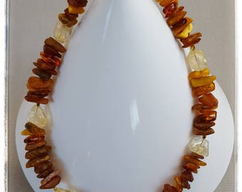 Amber with Citrine