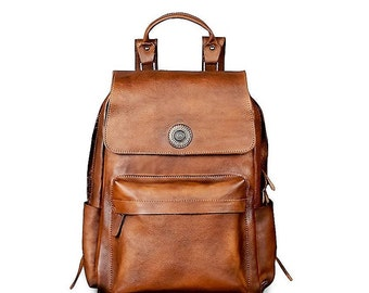 Genuine Leather Backpack, 15 Inch Laptop, Women Backpack, Men Backpack, Travel Backpack, College Backpack, School Backpack