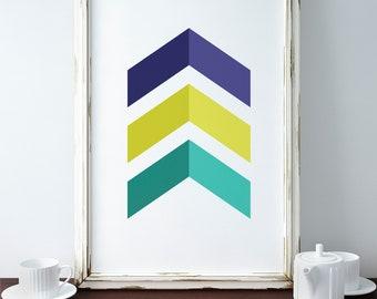 Scandinavian Chevron Poster