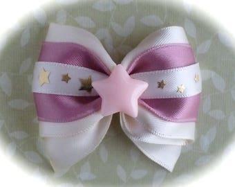 Small romantic bow pin stars