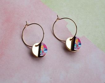 Thin delicate hoops, small hoop earrings, gold earrings, small gold hoops, thin hoops, edgy earrings, fashion earrings, gold hoops gift