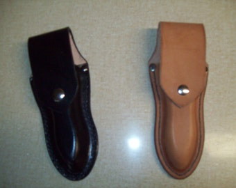 Custom Snapped Flap Pliers Holster with Belt Slit Opening in the Back
