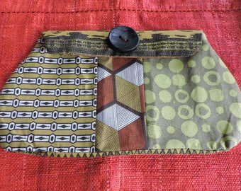 AFRICAN ETHNIC THEME FABRIC POUCH