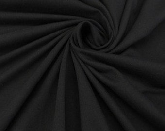 Solid 4-way Stretch Jersey Knit - Black Fabric