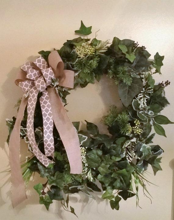 ivy wreath foliage wreath ivy everyday wreath ivy grapevine