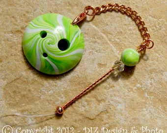 Lime Green Swirl Spinner's DIZ and Threader Set - No 4 - CONCAVE