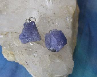Tanzanite Pendant, Tanzanite Charm, Natural Tanzanite Pendant, RoughTanzanite Pendant, Blue Tanzanite Pendant, Tanzanite Crystal
