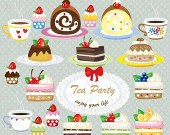 Cakes Clipart Set - Cupcakes clip art, desserts clipart / Sweets clipart (CG085)