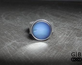 Neptune Ring Blue Planet Ring Adjustable Jewelry - Blue Planet Ring - Solar System Ring Jewelry - Neptune Planet Jewelry Blue Neptune Ring