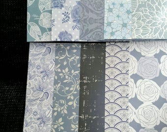paper set of 10 sheets of paper 15 x 15 cm