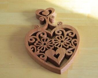 Heart Themed Trivet