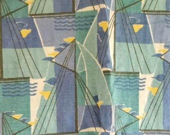 "Original Mulberry Fabric ""Deco Sails"" linen by British Luxury brand"