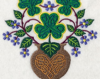 Shamrock Bouquet Embroidered Flour Sack Hand Towel