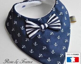 Bow tie small Navy 0-18 months baby bandana bib