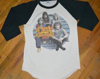 1982 OZZY OSBOURNE Black Sabbath vintage concert tour rare original rock band tee jersey raglan t-shirt Large (L) 80s 1980s tshirt tee mens
