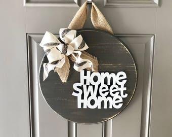 Home Sweet Home, Door Hanger, Front Door Decor, Home Door Sign, Home Sweet Home Sign, Wreaths For Front Door Year Round, New Home Gift