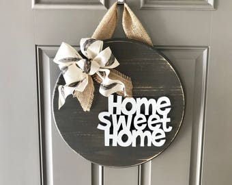 Home Sweet Home, Door Hanger, Front Door Decor, Home Door Sign, Home