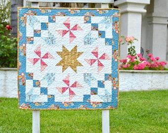 Good Morning Starshine PDF Quilt Pattern, Mini Quilt, Wallhanging, Quilt Pattern
