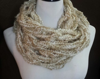 Sale* Ready To Ship* Arm Knit Infinity Cowl