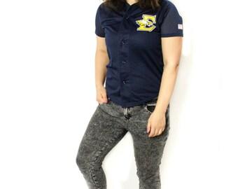 Philadelphia eagles shirt , Eagles number 27, Vintage shirt, Sport shirt, Blue shirt, Short sleeve shirt, Vintage  Football shirt / Medium