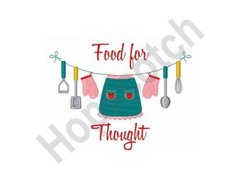 Food For Thought - Machine Embroidery Design