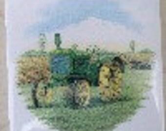 Ceramic Tile Antique John Deere Tractor