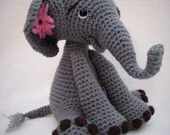 Amigurumi PDF Crochet Pattern Baby Elephant Toy Plushie Safari Animal DIY
