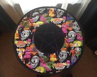 Round Altar Mat - Day of the Dead